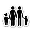 conventional family pictogram icon image vector image