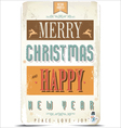 Happy New Year and Merry Christmas background vector image vector image
