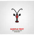 Lobster icon vector