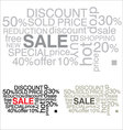 sale word collage background vector image vector image