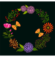 Springtime Colorful Flower and Butterfly vector image