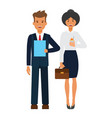 business office team cartoon flat vector image
