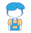 cute boy with clothes and hairstyle vector image