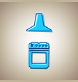 electric or gas stove and extractor kitchen hood vector image