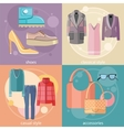 Fashion design clothes and accessories vector image