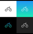 linear bike bicycle logo vector image