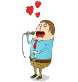 Man singing vector image