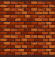 seamless old brick wall background texture pattern vector image