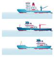 Set Icebreakers vector image