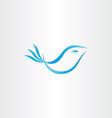 stylized blue bird vector image