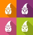 Witch hat isolated on white vector image