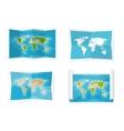 World map Navigation Africa vector image