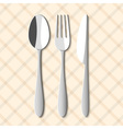 Spoonfork and knife vector image