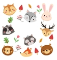 forest animals pattern icon vector image
