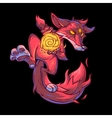 a fire fox vector image