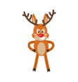 Angry Deer Cartoon Flat vector image
