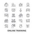 online training webinar computer e-learning vector image