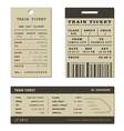 Train ticket set vector image