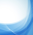 Wavy abstract blue background with border vector image