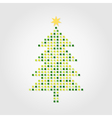 christmas tree on a white background a vector image vector image