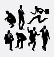 Businessman people action silhouettes vector image