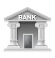 Stone building of bank vector image vector image