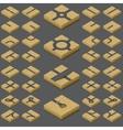 isometric road kit vector image