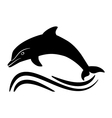 black dolphin silhouette vector image