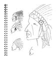 hand sketched portrait of Indian man vector image