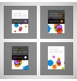 Abstract bright simple technology brochure vector image
