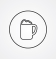 cappuccino outline symbol dark on white background vector image