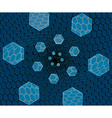 Flying hexagons over the grid vector image