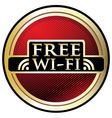 Free WiFi Red Label vector image