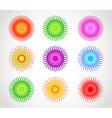 halftone color vector image