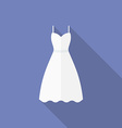 Icon of a wedding dress Flat style vector image