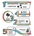 infographic template set elements vector image