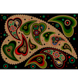 Paisley on black background vector image