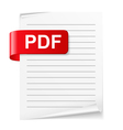 PDF File vector image