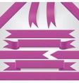 set of violet ribbons vector image
