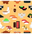 Sushi Seamless Pattern vector image