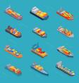 tanker oil bulk isometric tank ships or vector image