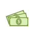 united states dollar banknotes vector image