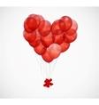 Balloon Heart Background vector image vector image