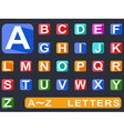 flat alphabet Long shadow icons vector image