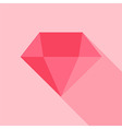 Big pink diamond vector image