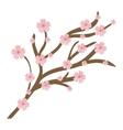 Pink Flower icon Garden design graphic vector image