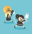 Business Woman Cartoons concepts teamwork Support vector image