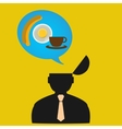 Persons thoughts about food design Concept vector image