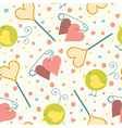 seamless candy bird hearts vector image