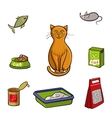 Set of products for cats vector image